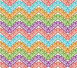 Colorful zigzag seamless pattern. Chevron vector background