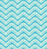 Lace seamless pattern on blue background