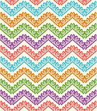 Colorful zigzag seamless pattern. Chevron background. Vector illustration