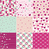 Seamless patterns Valentines Day