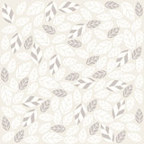Seamless plant pattern with fabric texture