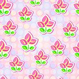 Seamless Floral Stylized Paper Pattern
