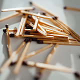 Matches scattered around