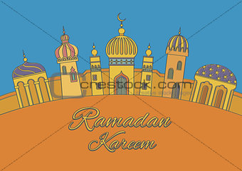 "Greeting card ""Ramadan Kareem"""