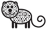 Cute animal leopard - illustration