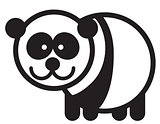 Cute animal panda - illustration