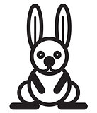 Cute animal rabbit - illustration