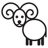 Cute animal sheep - illustration