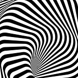 Design monochrome whirlpool motion illusion background. Abstract