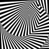Design monochrome vortex movement illusion background. Abstract