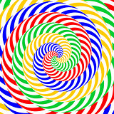 Design colorful whirlpool circular illusion background