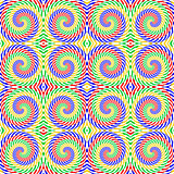Design seamless colorful spiral movement pattern