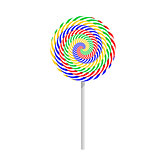 Colorful striped lollipop