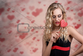 sensual girl with lollipop
