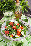 Healthy fresh spring salad