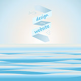 Sea background for web site