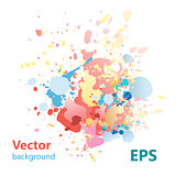 abstract background with colorful splashes