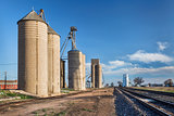 grain elevators in rural Colorado