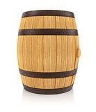 Wooden oaken barrel for beverages storing