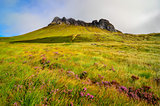 Scenic view of Inverpolly mountain peak Stack Pollaidh in Scotla