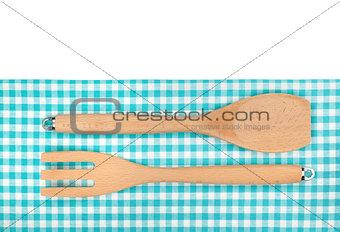 Kitchen utensils over towel