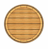 Wooden barrel top view