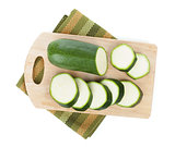Zucchini on cutting board