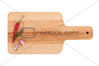Cutting board with spices