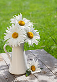 Fresh garden chamomile bouquet