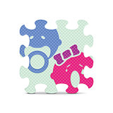 Vector baby sign made with alphabet puzzle