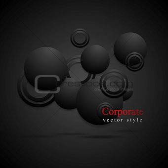 Black circles abstract background