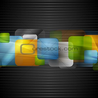 Bright squares on the dark striped background
