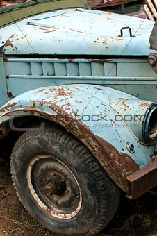 Wheel, mud-guard and car hood