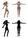 Dancing 3d girls