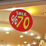 sale sign discount 70 percent