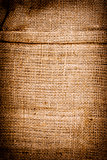 Texture of old dirty brown potato sack.