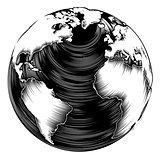 Vintage world globe