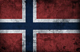 Grungy Norway Flag