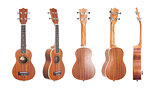 Set of 5 ukulele guitars