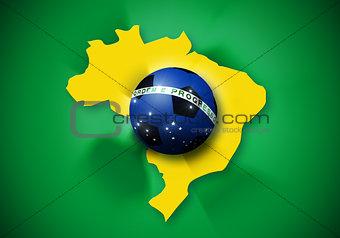 Brazil soccer ball flag