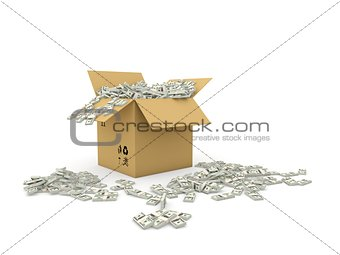 Box full of dollars