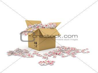 Box full of yuans