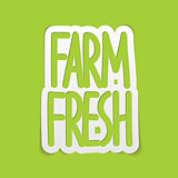 Farm fresh hand written lettering calligraphy. Vector
