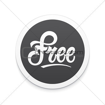 Free label or button. Vector