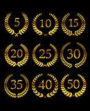 Anniversary golden laurel wreathes