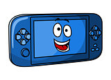 Blue game console