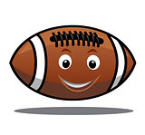 Bouncing american football ball