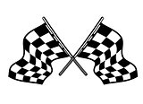 Crossed motor sport flags