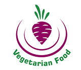 Vegetarian food icon with beetroot