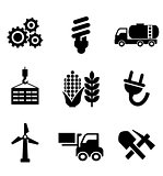 Set of energy and industry icons